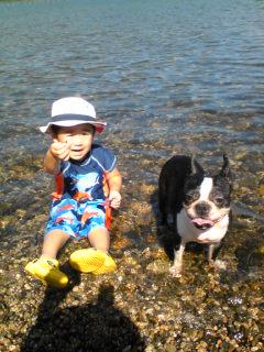 ♪あの子と琵琶湖初泳ぎ♪